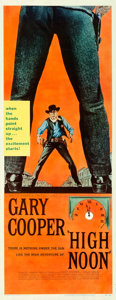 "Movie Posters:Western, High Noon (United Artists, 1952). Very Fine- on Paper. Insert (14"" X 36"").. ..."