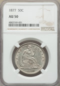 Seated Half Dollars: , 1877 50C AU50 NGC. NGC Census: (13/261). PCGS Population: (28/308). AU50. Mintage 8,304,510. ...