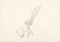 Animation Art:Production Drawing, Lady and the Tramp Lady Animation Drawing (Walt Disney,1955). ...