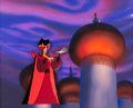 Animation Art:Production Cel, Disney's Aladdin the Series Jafar Production Cel on MasterProduction Background (Walt Disney, 1994)....