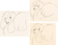 Animation Art:Production Drawing, Lady and the Tramp Peg Animation Drawings Group of 7 (Walt Disney, 1955).... (Total: 7 Original Art)