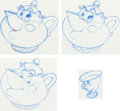 Animation Art:Production Drawing, Beauty and the Beast Animation Drawings Set of 4 (Walt Disney, 1991).... (Total: 4 Original Art)