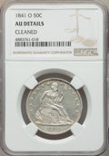 Seated Half Dollars, 1841-O 50C -- Cleaned -- NGC Details. AU. NGC Census: (9/75). PCGS Population: (18/85). CDN: $550 Whsle. Bid for problem-fr...