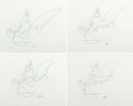 Animation Art:Production Drawing, The Little Mermaid Sebastian Animation Drawings Set of 8 (Walt Disney, 1989).... (Total: 8 Original Art)