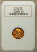 Proof Lincoln Cents, 1940 1C PR65 Red NGC. This lot also include the a: 1952 1C PR67 Red NGC.... (Total: 2 coins)