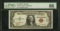 Fr. 2300 $1 1935A Hawaii Silver Certificate. PMG Gem Uncirculated 66