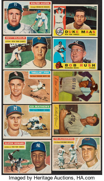 1954 Bowman 1956 Topps 1960 Topps Baseball Collection 93