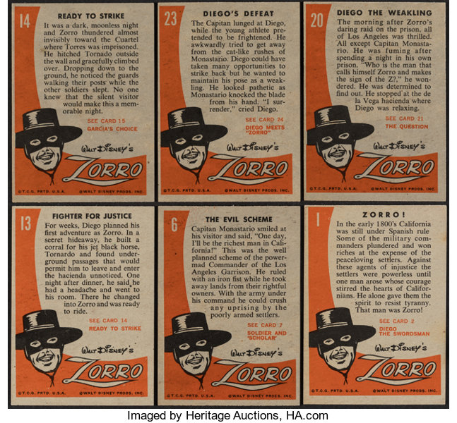 1958 Topps Zorro Complete Set (88) Plus One Pack      Non