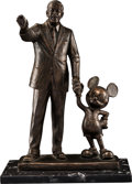 "Animation Art:Maquette, ""Walt Disney and Mickey Mouse - Partners"" Statue (Walt Disney,1993)...."