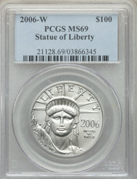 2006-W $100 One-Ounce Platinum Eagle, Burnished, MS69 PCGS. PCGS Population: (195/182). NGC Census: (85/425). 69....(PCG...