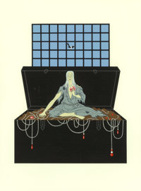 Erté (Russian/French, 1892-1990) The Seven Deadly Sins, suite of seven, 1983 Screenprints in colors on Arches 88...