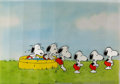 Animation Art:Production Cel, Peanuts The Charlie Brown and Snoopy Show Snoopy Production Cels Sequence of 6 and Layout Drawing Group (Bill Mel... (Total: 7 Items)