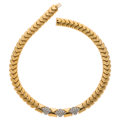 Estate Jewelry:Necklaces, Diamond, Gold Necklace, Kria . ...