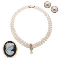 Estate Jewelry:Lots, Diamond, Opal, Black Onyx, Freshwater Cultured Pearl, Mabe Pearl, Gold Jewelry. ... (Total: 3 Items)