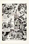 Original Comic Art:Panel Pages, Pat Boyette Flash Gordon #14 Story Page 3 Original Art(Charlton, 1969)....