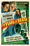 """Movie Posters:Mystery, The Pearl of Death (Universal, 1944). Fine- on Linen. One Sheet (27"""" X 41"""").. ..."""