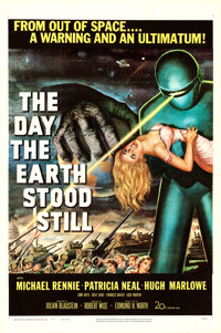 "The Day the Earth Stood Still (20th Century Fox, 1951). Fine+ on Linen. One Sheet (27"" X 41"")"