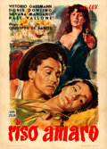 Movie Posters:Foreign, Bitter Rice (Lux Film, 1948). Very Fine- on Linen.