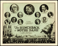 """The Hunchback of Notre Dame (Universal, 1923). Fine/Very Fine. Title Lobby Card (11"""" X 14"""")"""