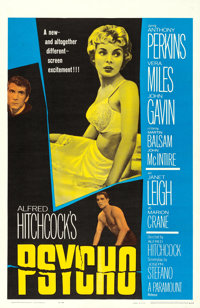 """Psycho (Paramount, 1960). Very Fine- on Linen. One Sheet (27"""" X 41"""")"""