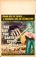 """Movie Posters:Science Fiction, The Day the Earth Stood Still (20th Century Fox, 1951). Folded, Fine/Very Fine. Window Card (14"""" X 22"""").. ..."""