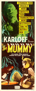 Movie Posters:Horror, The Mummy (Realart, R-1951). Fine+ on Linen. Inser...