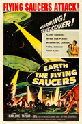 Movie Posters:Science Fiction, Earth vs. the Flying Saucers (Columbia, 1956). Fine/Very F...