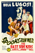 Movie Posters:Comedy, Spooks Run Wild (Monogram, 1941). Very Fine- on Linen....