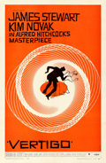 "Movie Posters:Hitchcock, Vertigo (Paramount, 1958). Very Fine+ on Linen. One Sheet (27"" X41""). Saul Bass Artwork.. ..."