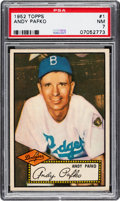 Baseball Cards:Singles (1950-1959), 1952 Topps Andy Pafko (Red Back) #1 PSA NM 7....