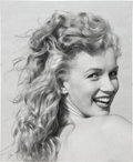 Movie/TV Memorabilia:Photos, Marilyn Monroe Black and White Photo By Andre de Dienes