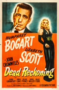 "Movie Posters:Film Noir, Dead Reckoning (Columbia, 1947). Folded, Very Fine-. One Sheet (27"" X 41"") Style A.. ..."