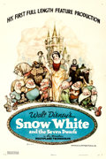 "Movie Posters:Animation, Snow White and the Seven Dwarfs (RKO, 1937). Fine on Linen. OneSheet (27.25"" X 41"") Style B, Gustaf Tenggren Artwork..."