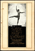"Movie Posters:Documentary, Ways to Strength and Beauty (UFA, 1925). Fine/Very Fine. German Program (48 Pages, 7"" X 10""). Documentary.. ..."