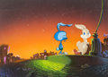 Animation Art:Painted cel background, Cool World Craps the Bunny Production Cel and MasterProduction Background (Paramount, 1992)....