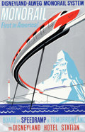 "Animation Art:Poster, Disneyland ""Monorail"" Park Attraction Poster (Walt Disney,1961)...."