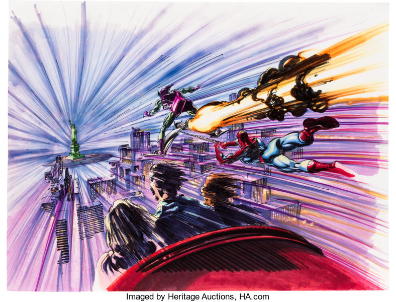 b95bb1b34eac9 The Amazing Adventures of Spider-Man Concept Drawing and Print | Lot ...