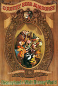"Animation Art:Poster, Disneyland ""The Country Bear Jamboree"" Park Entrance Poster (Walt Disney, c. 1970s)...."