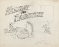 Animation Art:Concept Art, Holiday for Drumsticks Lobby Card Concept Drawing Signed byArt Davis (Warner Brothers, 1949)....
