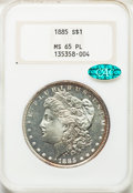Morgan Dollars: , 1885 $1 MS65 Prooflike NGC. CAC. NGC Census: (179/46). PCGS Population: (270/78). MS65. ...