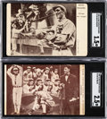 Baseball Cards:Lots, 1909-16 PC758 Max Stein Post Cards Ed Walsh & Buck Weaver SGC-Graded Pair (2). ...