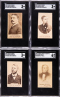 Non-Sport Cards:Lots, 1880's N51 Virginia Brights and N146 Duke of Durham SGC-Graded Collection (10). ...