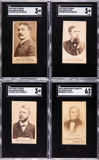 1880's N51 Virginia Brights and N146 Duke of Durham SGC-Graded Collection (10)