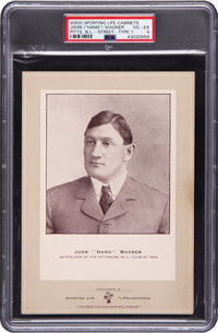 1902-11 W600 Sporting Life - Type 1 Honus Wagner (Street Clothes) PSA VG-EX 4