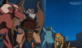 Animation Art:Production Cel, Gargoyles Production Cel and Hand-Painted Production Background (Walt Disney, 1994)....