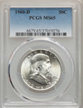 Franklin Half Dollars: , 1960-D 50C MS65 PCGS. PCGS Population: (606/13). NGC Census: (577/10). CDN: $110 Whsle. Bid for problem-free NGC/PCGS MS65....