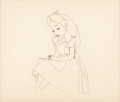 Animation Art:Production Drawing, Alice in Wonderland Alice Animation Drawing (Walt Disney, 1951)....