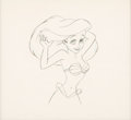 Animation Art:Production Drawing, The Little Mermaid Ariel Animation Drawing (Walt Disney, 1989)....