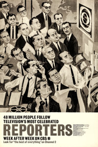 """CBS Television Lot (CBS, 1959). Very Fine on Linen. Television Posters (7) (Approx. 30"""" X 45"""") Joe Kaufman Art..."""