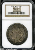 """1878 8TF $1 PR65 NGC. VAM-14.8. A rarely seen variant of the Eight Tailfeather proof, the 14.8 is the """"Doubled Eyel..."""
